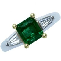 Contemporary and Impressive Emerald and Diamond Ring - 18CT Gold
