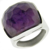 18ct yellow gold ring with Amethyst