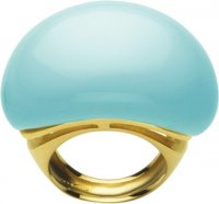 Stunning Turquoise Cocktail ring. Gold Turquoise Babol Ring