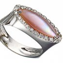 Mother of Pearl and Diamond ring