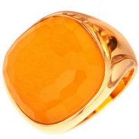 Designer Yellow Gold Citrine Cocktail Ring,